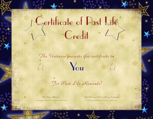 certificate of past life karma
